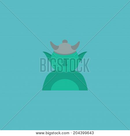 Flat Icon Character Element. Vector Illustration Of Flat Icon Goblin Isolated On Clean Background