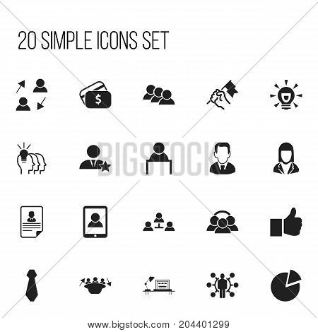 Set Of 20 Editable Job Icons. Includes Symbols Such As Rally, Unity, Businesswoman And More