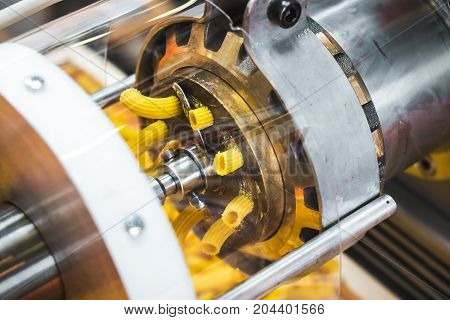 pasta machine dies brass mold factory industrial machine called Trafila used for Trafilatura al bronzo (Bronze drawing)