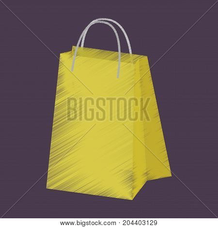 flat shading style icon paper bags fashion