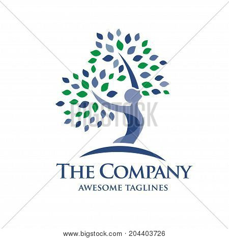 elegant Psychology and Mental Health logo concept