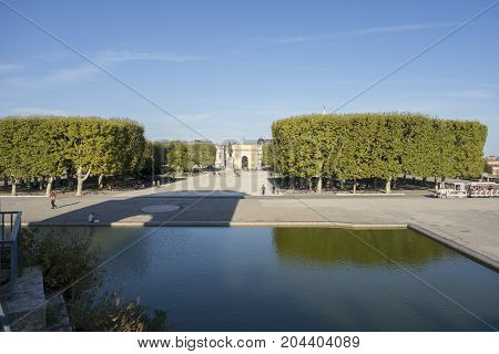 The Beautiful City Of Montpellier In France
