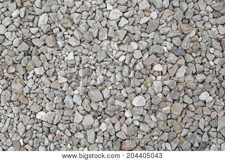 the Crushed gravel as a texture or background