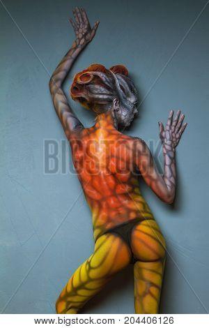 Body Art. Fantasy Animal - Woman Dragon