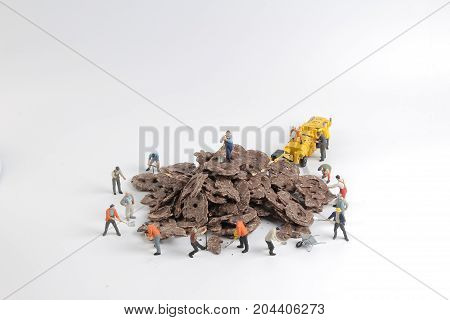 Chocolate  Cookies With Toys Worker Of Figures