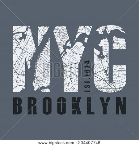 New Tork Brooklyn t-shirt and apparel vector design, print, typography, poster, emblem.