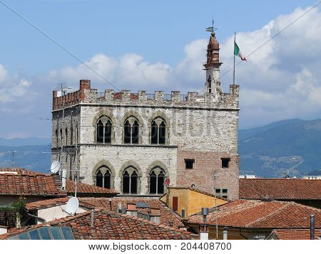 Pretorian Palace in Prato, Small city Prato in Tuscany Italy
