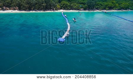 Aerial Photography At Coral Island