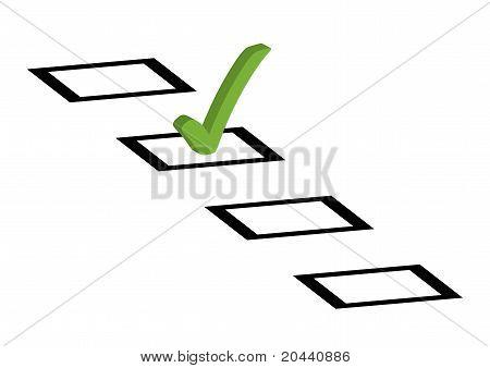 Tick box to vote