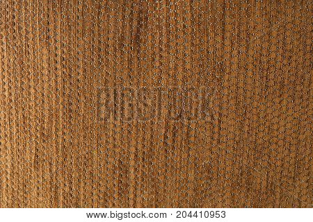 Textile Texture Close Up of Brown Fabric Pattern Background with Copy Space for Text Decorated.