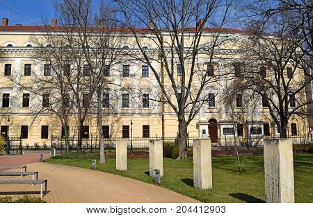 Building of the Reformed Clollege Debrecen Hungary