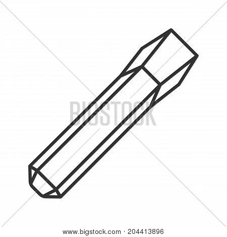 Iron chisel linear icon. Thin line illustration. Contour symbol. Vector isolated outline drawing