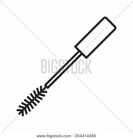 Mascara linear icon. Thin line illustration. Contour symbol. Vector isolated outline drawing