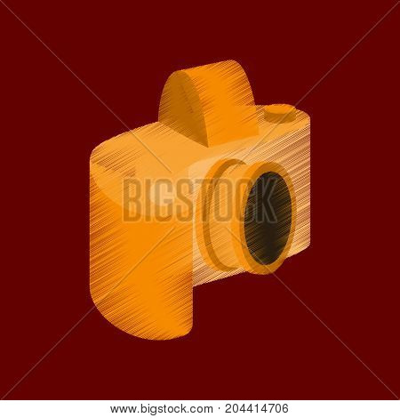 flat shading style icon camera focus photographic
