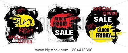 Dynamic design Sale. Poster or banner for Black Friday. Vector illustration.