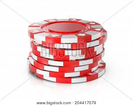 Casino Chips 3D Illustration