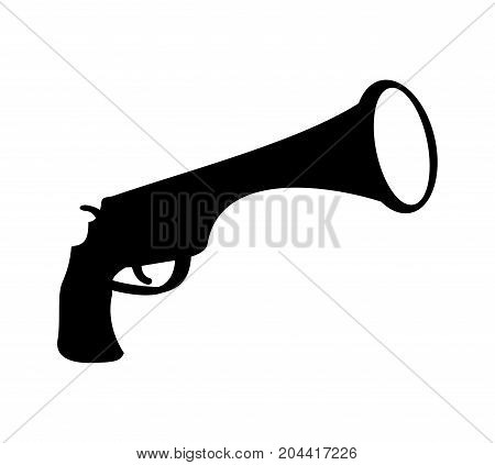 Pirate Gun Icon. Filibuster Pistol. Vector Illustration