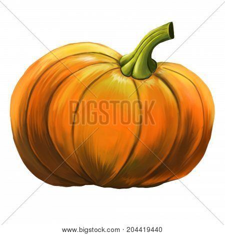 Pumpkin pattern. An evil pumpkin for Halloween.