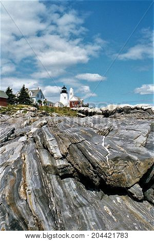 Pemaqiud Point Lighthouse is located in Bristol, Maine
