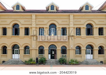 Nakhon Phanom, Thailand - May 2017: Historic Building Of Neo-palladian Architecture Originally Built