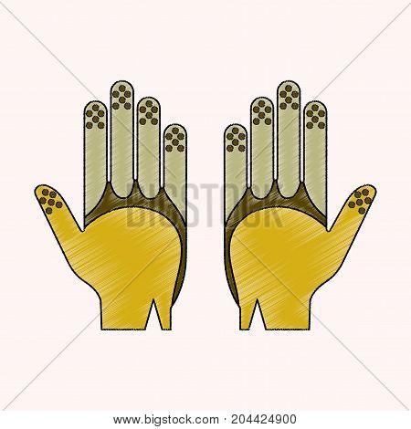 flat shading style icon Golf gloves equipment