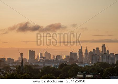 London Skyline Seen From Primrose Hill.