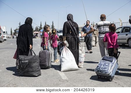 Syrian Refugees Entering Turkey
