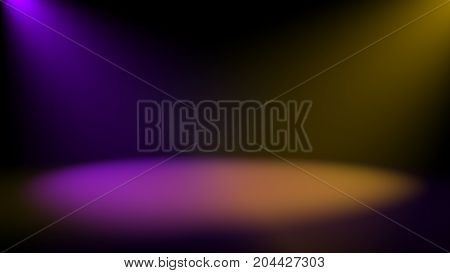 Abstract background with Spotlight. Digital 3d rendering