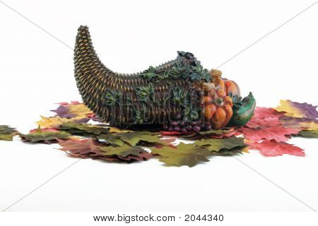 Cornucopia And Leaves