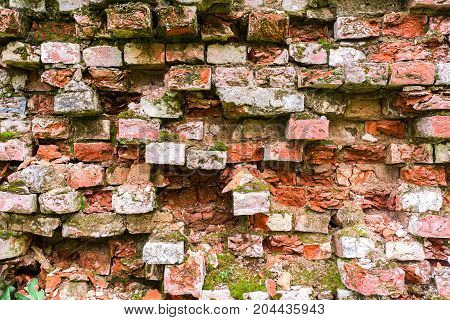 Background texture of an old wall with bricks