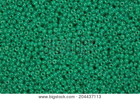 Clear green glass beads. Hi res photo.