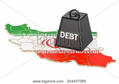 Iranian national debt or budget deficit financial crisis concept 3D rendering