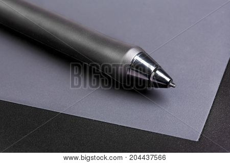 Graphic tablet with pen closeup. High resolution photo.