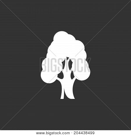 Tree icon isolated on black background. Tree vector logo. Flat design style. Modern vector pictogram for web graphics - stock vector