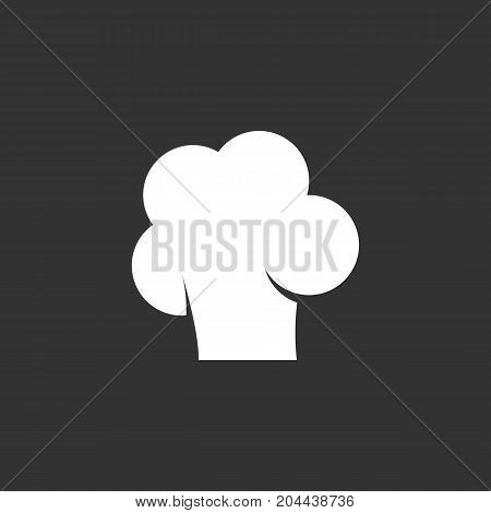 Chef cap icon isolated on black background. Chef cap vector logo. Flat design style. Modern vector pictogram for web graphics - stock vector