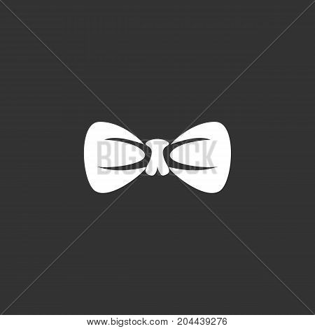 Bow tie icon isolated on black background. Bow tie vector logo. Flat design style. Modern vector pictogram for web graphics - stock vector