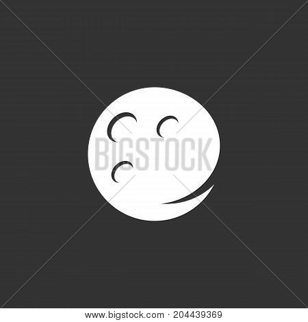 Moon icon isolated on black background. Moon vector logo. Flat design style. Modern vector pictogram for web graphics - stock vector