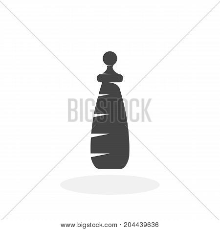 Baby bottle icon isolated on white background. Baby bottle vector logo. Flat design style. Modern vector pictogram for web graphics - stock vector