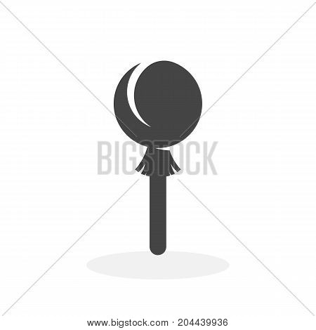 Candy on stick icon isolated on white background. Candy on stick vector logo. Flat design style. Modern vector pictogram for web graphics - stock vector