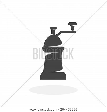 Coffe mill icon isolated on white background. Coffe mill vector logo. Flat design style. Modern vector pictogram for web graphics - stock vector