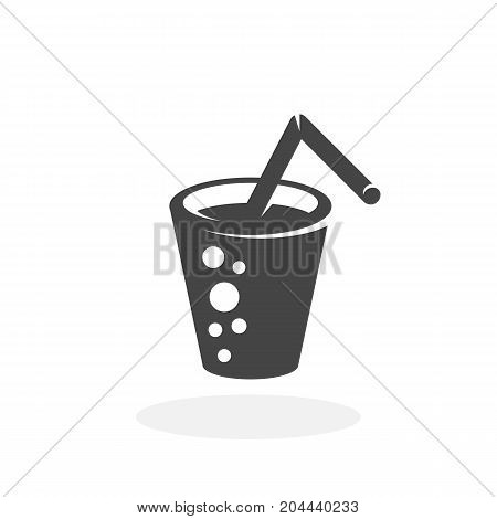 Glass of water icon isolated on white background. Glass of water vector logo. Flat design style. Modern vector pictogram for web graphics - stock vector