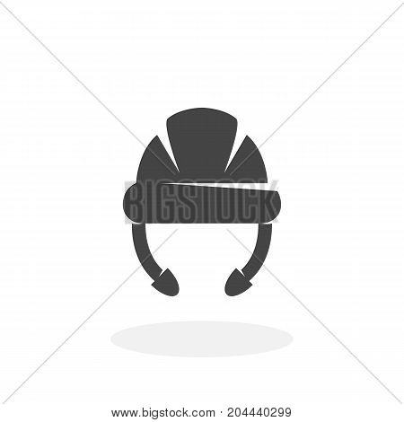 Hard hat icon isolated on white background. Hard hat vector logo. Flat design style. Helmet vector pictogram for web graphics - stock vector