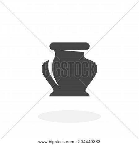 Ink bottle icon isolated on white background. Ink bottle vector logo. Flat design style. Modern vector pictogram for web graphics - stock vector