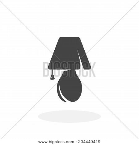 Lamp icon isolated on white background. Lamp vector logo. Flat design style. Night light vector pictogram for web graphics - stock vector