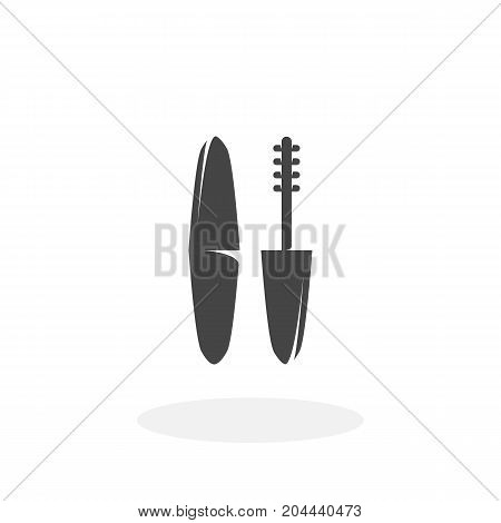 Mascara icon isolated on white background. Mascara vector logo. Flat design style. Modern vector pictogram for web graphics - stock vector