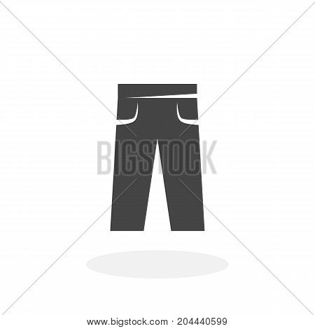 Pants icon isolated on white background. Pants vector logo. Flat design style. Modern vector pictogram for web graphics - stock vector