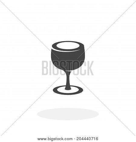 Glass icon isolated on white background. Glass vector logo. Flat design style. Modern vector pictogram for web graphics - stock vector