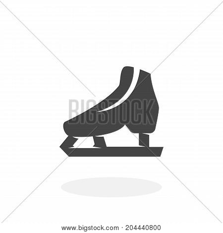 Skates icon isolated on white background. Skates vector logo. Flat design style. Modern vector pictogram for web graphics - stock vector