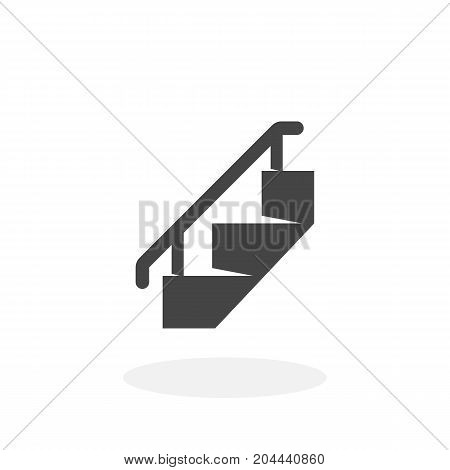 Staircase icon isolated on white background. Staircase vector logo. Flat design style. Modern vector pictogram for web graphics - stock vector