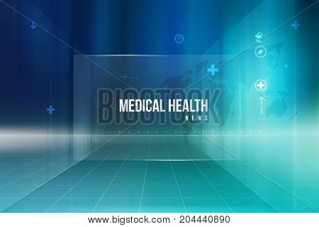Medical Health News Background Suitable for Healthcare and Medical Topics